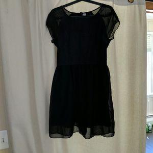 Black flowy H&M dress